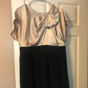 Gold and black cocktail dress